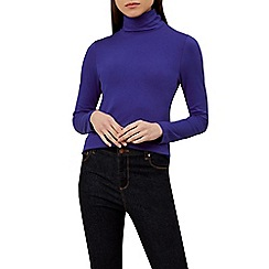 Hobbs - Bright Blue 'Mischa' roll neck top