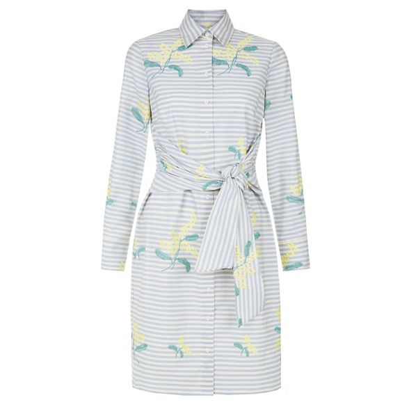 Multicoloured long print shirt 'Lillia' length sleeve dress Hobbs floral knee Pdw4IqHPBx