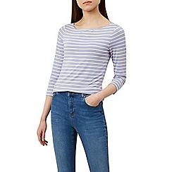 Hobbs - Lilac 'Sonya' striped top