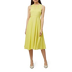 Hobbs - Yellow chiffon 'emma' midi dress