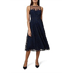 Hobbs - Blue 'Felicity' midi length evening dress