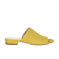 Hobbs - Yellow 'Rachel' mule sandals