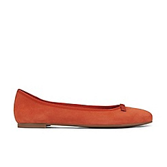 Hobbs - Dark orange 'Flo' ballerina