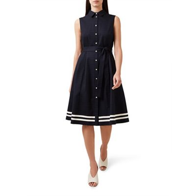 Hobbs   Navy 'clarence' Dress by Hobbs