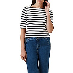 Hobbs - Ivory 'Kate' stripe top