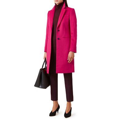 Hobbs   Bright Pink 'tilda' Coat by Hobbs