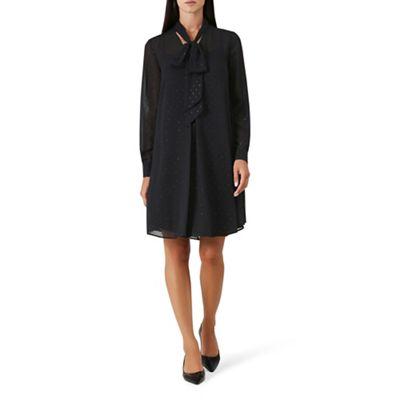 Hobbs Black chiffon  Evangelina  long sleeve knee length dress   Debenhams 94ae6bce88