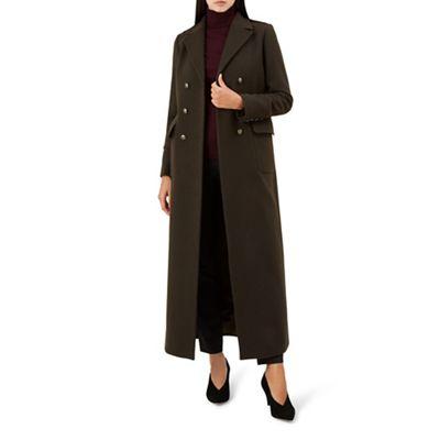 Hobbs   Green 'bianca' Maxi Coat by Hobbs