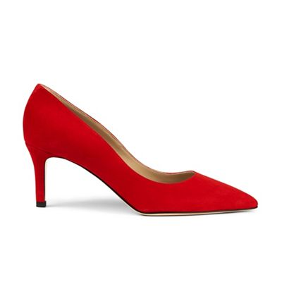 Hobbs - Red 'grace' court shoes