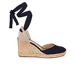 Hobbs - Navy 'Trina' wedge sandals
