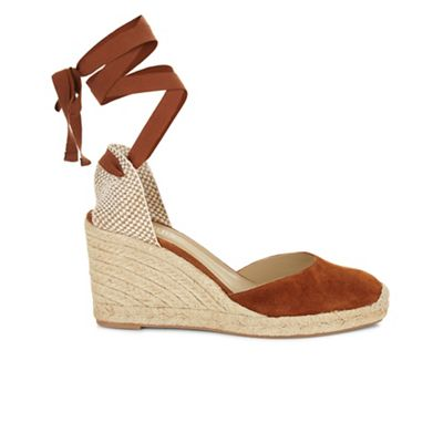 Hobbs   Chocolate 'trina' Wedge Sandals by Hobbs