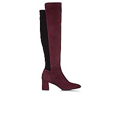Hobbs - Maroon 'Imogen' knee high boots