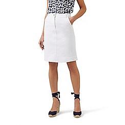 Hobbs - White 'Bronte' skirt