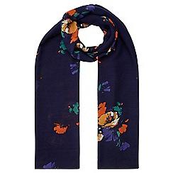 Hobbs - Navy 'Dotty' scarf