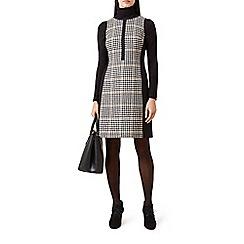 Hobbs - Camel pure wool 'Joy' knee length shift dress