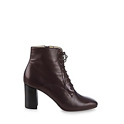 Hobbs - Dark red 'Amber' boots