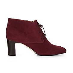 Hobbs - Maroon 'Patricia' ankle boots