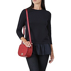 Hobbs - Navy 'Ariah' pleat  top