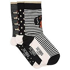 Hobbs - Black 'Sausage' dog socks set