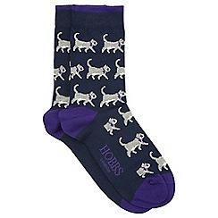 Hobbs - Navy 'Sophie' all over socks