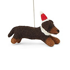 Hobbs - Multicoloured 'Sausage' dog decoration