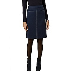 Hobbs - Dark blue 'Joella' a line skirt