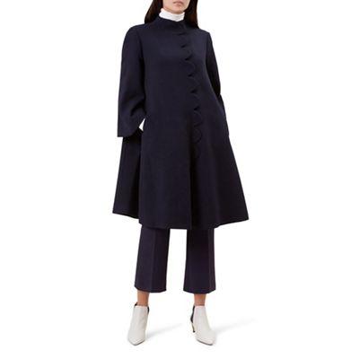Hobbs   Navy 'diana' Coat by Hobbs