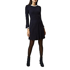 Hobbs - Navy 'Willow' long sleeve shift dress