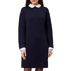 Hobbs - Navy 'Natalia' long sleeve shift dress
