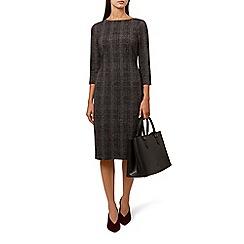 Hobbs - Multicoloured 'Josie' cowl neck long sleeve knee length shift dress