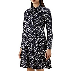 Hobbs - Navy 'Laila' long sleeve shift dress