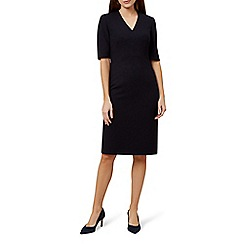 Hobbs - Black 'Kora' v-neck shift dress
