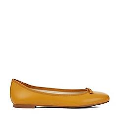 Hobbs - Yellow 'Flo' Ballerina Shoes