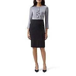 Hobbs - Navy 'Dania' long sleeve shift dress