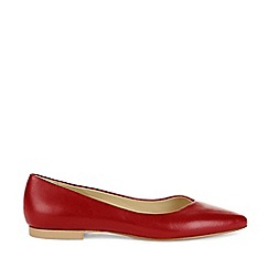 Hobbs - Red 'Emily' Flat Shoes