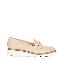 Hobbs - Light pink 'Bloomsbury' penny loafer shoes