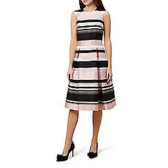 Hobbs - Pink 'Bridgette' stripe fit & flare dress