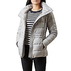 Hobbs - Silver 'poppy' puffer jacket