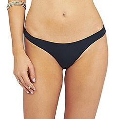 Oh My Love - Black back rouching detail hipster brief