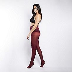bb26370b3 Scarlett   Jo - 50 Denier curvy burgundy tights