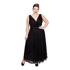 Scarlett & Jo - Black plus size nancy Marilyn Chiffon maxi dress