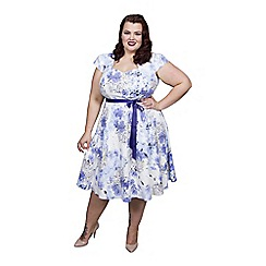 Scarlett & Jo - Blue plus size sweetheart dress
