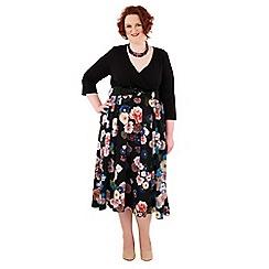 Scarlett & Jo - Multicoloured tall plus size midi dress