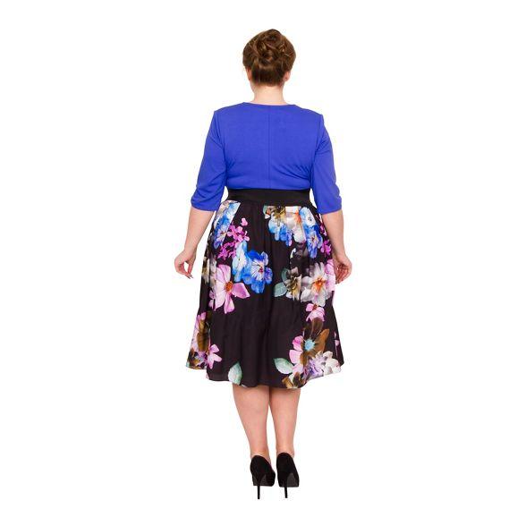 Multicoloured length Scarlett jersey dress size plus midi Jo amp; floral wgW1fxR
