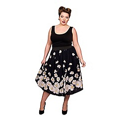 Scarlett & Jo - Multicoloured viscose plus size jersey skirt