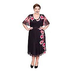 Scarlett & Jo - Multicoloured polyester knee length plus size jersey skirt