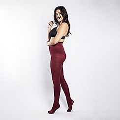 Scarlett & Jo - 90 Denier curvy burgundy tights