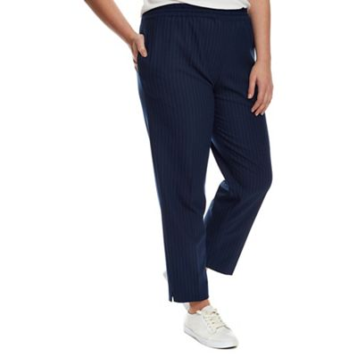 4cabe52aa3 Live Unlimited - Navy pinstripe trouser