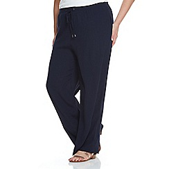 Live Unlimited - Navy wide leg trousers