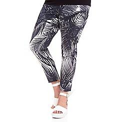 Live Unlimited - Palm print capri trousers